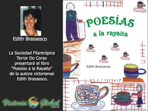Libro de poesías de la autora Edith Brassesco