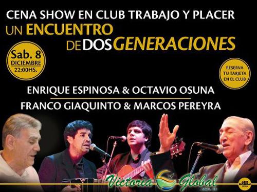 Gran Cena Show en Club Trabajo y Placer