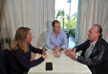 El gobernador Bordet y Laura Stratta se reunieron con el presidente de Victoria del Agua.