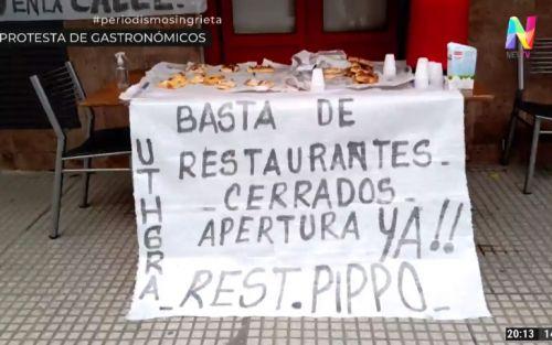 Protesta de gastronómicos: «Un 70% de locales no tienen lugar al aire libre y siguen cerrados»